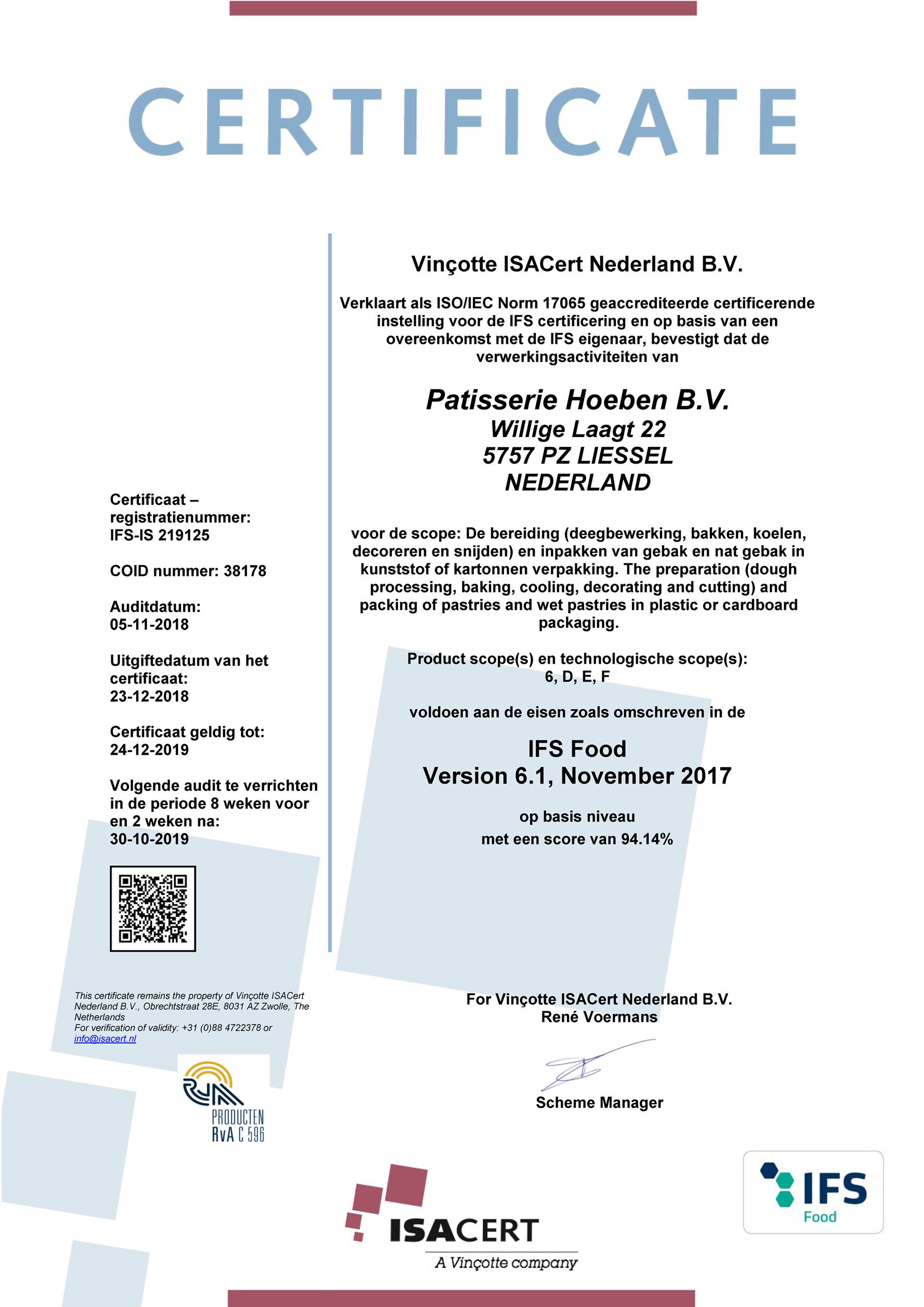 IFS Certificaat